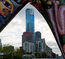Angel Straddling Eureka - Melbourne by Norman Repacholi