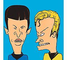 Star Trek - Beavis and Butthead Parody Photographic Print