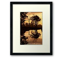 Reflections - Tongala Victoria Australia Framed Print