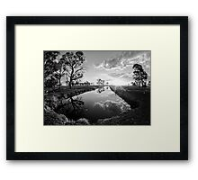 Reflections on irrigation channel - Tongala Victoria Australia Framed Print
