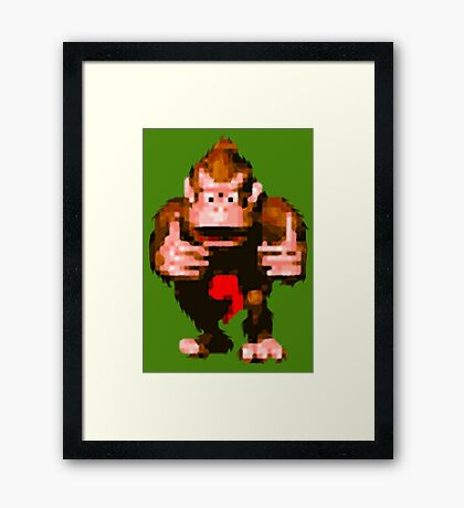 Donkey Kong Country - Thumbs Up Framed Print