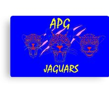 APG JAGUARS 2016 Black, Yellow, Red Canvas Print