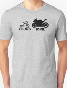 yours mine funny Unisex T-Shirt