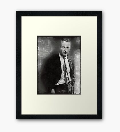 Paul Newman Hollywood Actor Framed Print