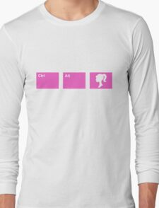 Ctrl - Alt - Barbie Long Sleeve T-Shirt