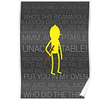 Lemongrab Silhouette & Quotes Poster