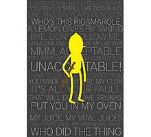 Lemongrab Silhouette & Quotes Photographic Print