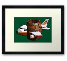 Donkey Kong Country - Funky's Flights Framed Print
