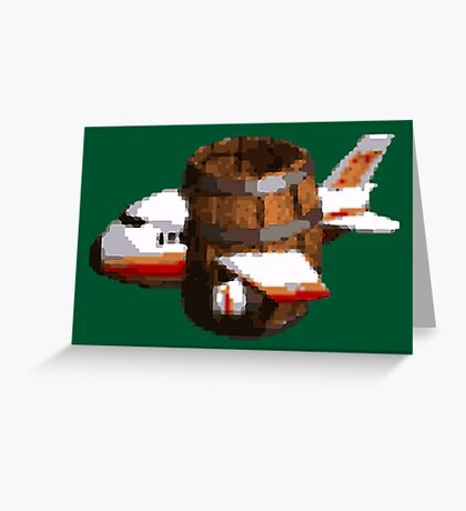 Donkey Kong Country - Funky's Flights Greeting Card
