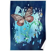 Watercolour Butterfly 07 Poster