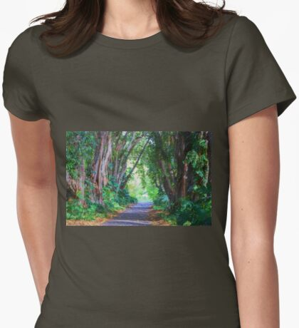 Forest Path Womens Fitted T-Shirt