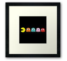 Pac Man and Ghosts Framed Print
