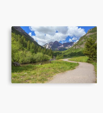 Maroon Bells Images - Walkway to the Wilderness Canvas Print