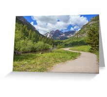 Maroon Bells Images - Walkway to the Wilderness Greeting Card