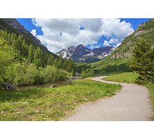 Maroon Bells Images - Walkway to the Wilderness Photographic Print