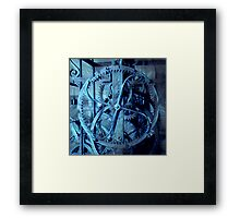 Energy of clock gear Framed Print