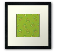 butterflies on green Framed Print
