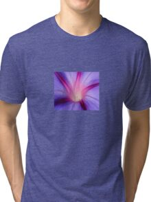 Lilac and Fuschia Morning Glory in Macro Tri-blend T-Shirt