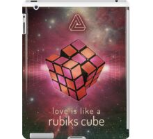 Retr Rubiks cube poster iPad Case/Skin