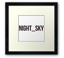 Night_Sky Framed Print