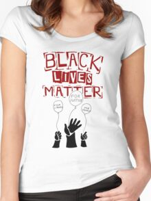 black live matter Women's Fitted Scoop T-Shirt