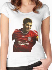 steven gerrard goal Women's Fitted Scoop T-Shirt
