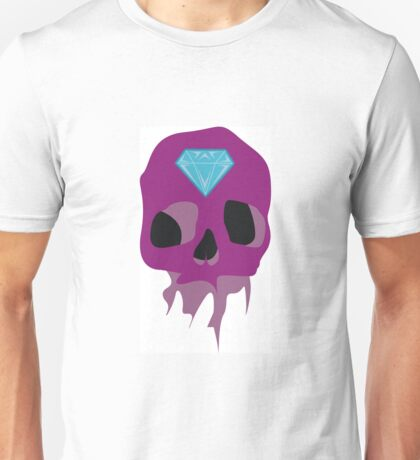 Calavera morada Unisex T-Shirt