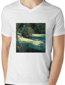 Rock in the river Mens V-Neck T-Shirt