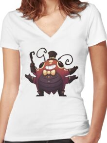 Showbeetle Women's Fitted V-Neck T-Shirt