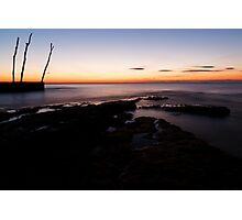 Sunset at basanija Photographic Print
