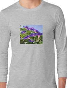Deep Purple Morning Glory Climbing Plant Long Sleeve T-Shirt