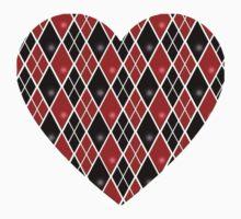 Harley Quinn Diamonds and Heart Kids Tee