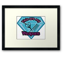 Hair Stylist Weapons Framed Print