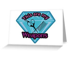 Hair Stylist Weapons Greeting Card