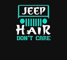 Jeep Hair Don't Care Funny Women T shirt Womens Fitted T-Shirt