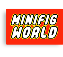 MINIFIG WORLD Canvas Print