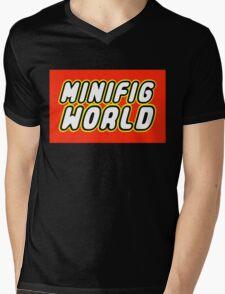 MINIFIG WORLD Mens V-Neck T-Shirt