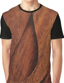 Beautiful Unique brown wood inlay marquetry veneer design Graphic T-Shirt