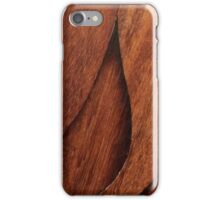 Beautiful Unique brown wood inlay marquetry veneer design iPhone Case/Skin
