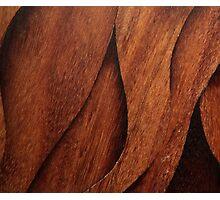 Beautiful Unique brown wood inlay marquetry veneer design Photographic Print