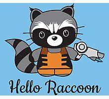 Hello Raccoon Photographic Print