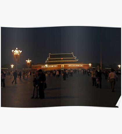 Tiananmen Square Beijing - China 2006 Poster