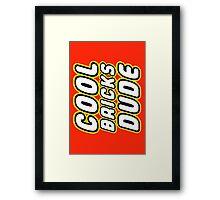 COOL BRICKS DUDE, Customize My Minifig Framed Print