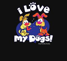 I LOVE MY DOGS! Womens Fitted T-Shirt