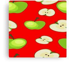 Apple fruit pattern Canvas Print