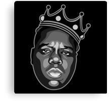 Notorious Biggie King Crown Canvas Print