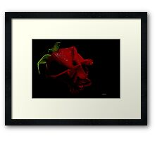 Wickedly Scarlet! Framed Print