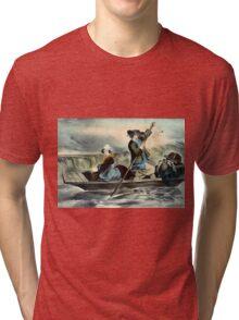 Going against the stream - 1856 Tri-blend T-Shirt