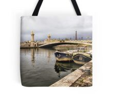 59 Seine with barge Tote Bag
