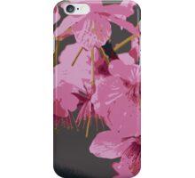 Beautiful Pink Sakura Cherry Blossoms Illustration iPhone Case/Skin